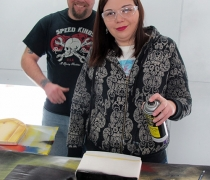 2014-03-07-Trophies-Robert-and-Tiffany-in-Paint-Booth.jpg