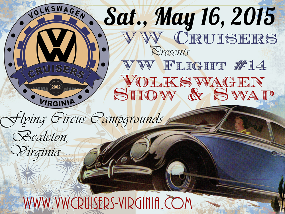 VW Cruisers Show - Sat., May 16, 2015